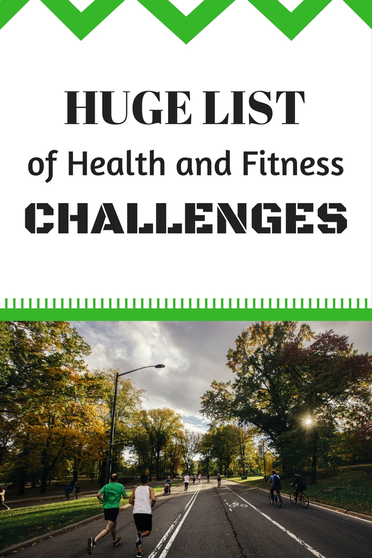 Health and Fitness Challenge List