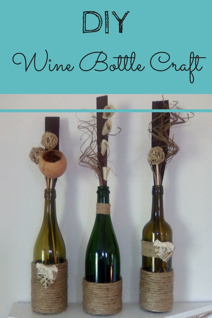 DIY Wine Bottle Twine Craft